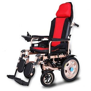 Electric Wheelchair Elderly Disabled Car Elderly Intelligent Automatic Portable Scooter Multifunctional Folding, Red