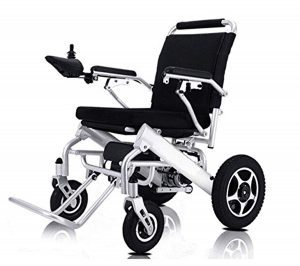Electric Wheelchair Folding Lightweight Supports 360 lbs Aircraft Grade Aluminum Alloy Frame