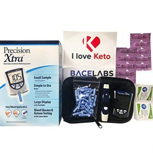 BaceLabs Precision Xtra Blood Glucose and Ketone Monitoring Meter Kit