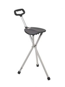 Drive Medical Deluxe Folding Cane Seat, Black
