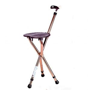 Yao Ruirui Folding Lightweight Adjustable Height Cane Seat