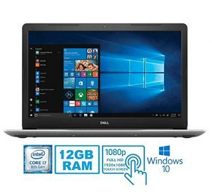 2019 Dell Inspiron 15 5000 5570 Intel Core i7-8550U 12 GB DDR4 1TB HDD 15.6 Full HD Touchscreen LED Silver Laptop
