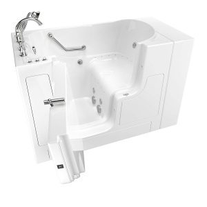 American Standard 30 Inches x 52 Inches Left Hand Outward Opening Door Value Series Walk in Combo Whirlpool and Air Spa in White - 3052OD.709.CLW-PC