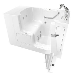 American Standard 32 Inches x 52 Inches Right Hand Outward Opening Door Value Series Walk in Whirlpool in White (3252OD.709.WRW-PC)