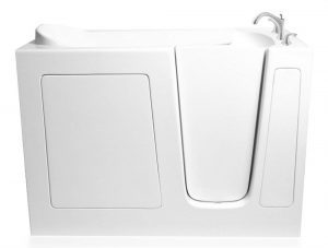 Ariel Bath EZWT-3054-DUAL-R Walk in Bathtub Right Side Drain with 6 Whirlpool 18 Air Jets and Inline Heater