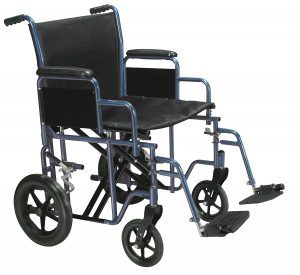 Drive Medical Bariatric Heavy Duty Transport Wheelchair with Swing Away Footrest, 20 Inch