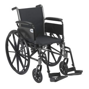 Drive Medical Cruiser III Lightweight Wheelchair, 18 Inch