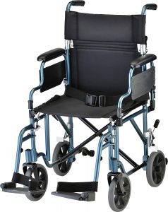 Nova Lightweight Transport Chair With Removable And Flip-up Arms For Easy Transfer