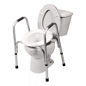 PCP Raised Toilet Seat And Safety Frame