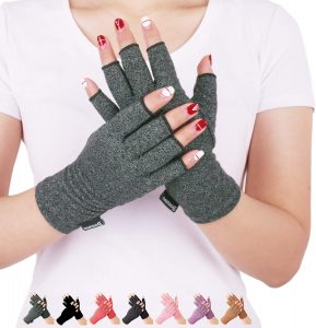 Arthritis Compression Gloves Relieve Pain From Rheumatoid, Rsi, Carpal Tunnel, Hand Gloves Fingerless For Computer Typing