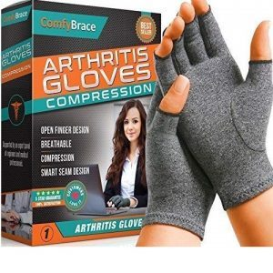 Comfy Brace Arthritis Hand Compression Gloves – Comfy Fit, Fingerless Design, Breathable & Moisture Wicking Fabric